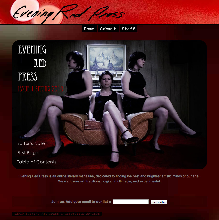 Evening Red Press Screenshot